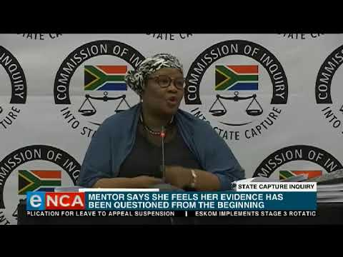 Mentor feels her evidence has been treated differently