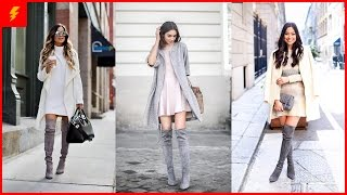 How to Wear Grey Boots to Look Fashionable