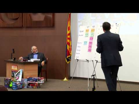 Kleenex Box presentation of Arizona's budget with AZ Secretary of State, Ken Bennett