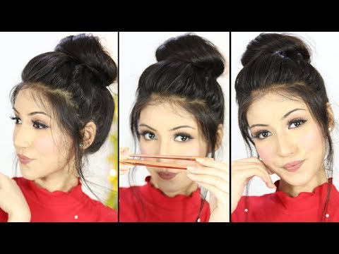 New Bun Hairstyle With Using Brush | Updo Hairstyle | New Hairstyles thumbnail