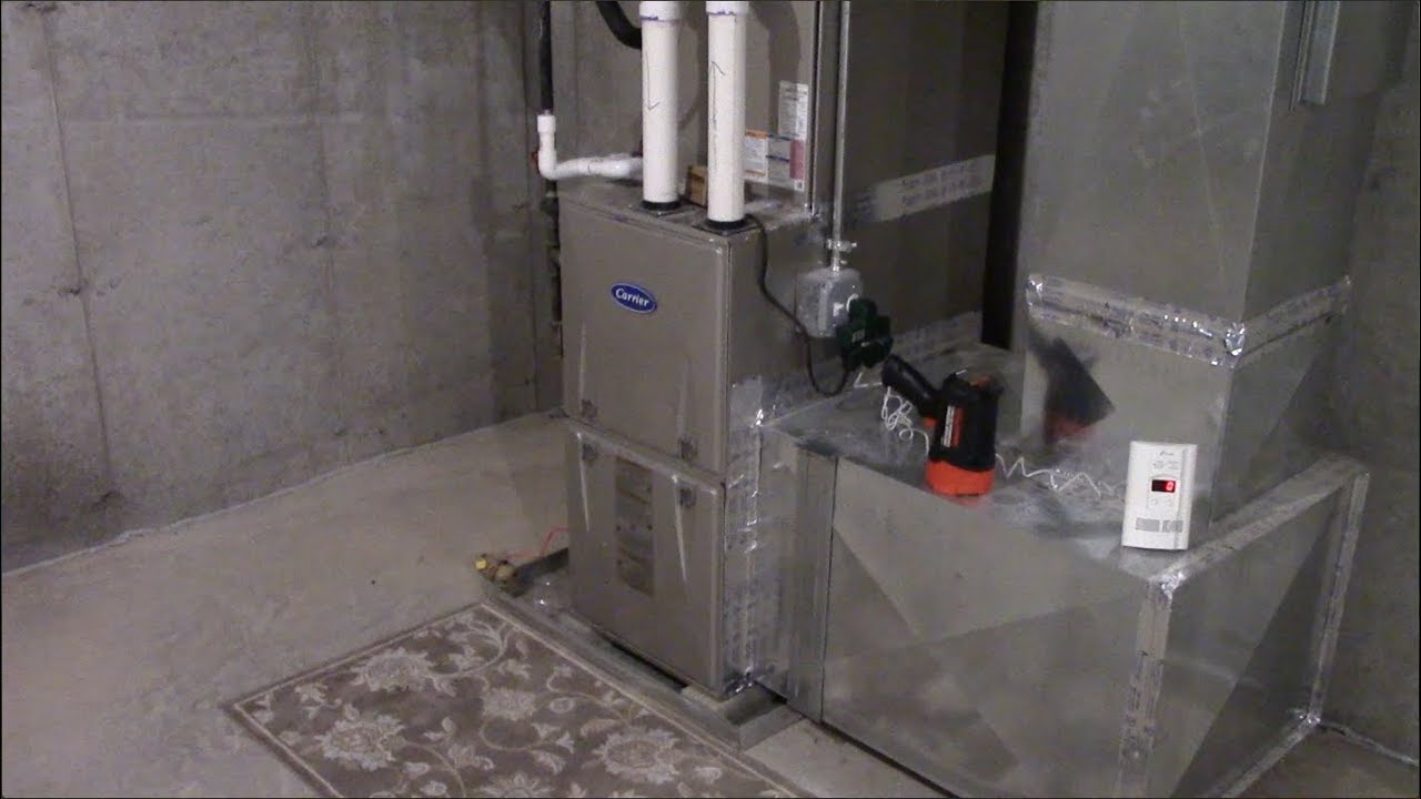 Carrier 92 Efficient Natural Gas Furnace Youtube