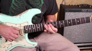 Jimi Hendrix Style Bending Lick - Blues Rock Guitar Lessons - Lead Guitar Soloing Lesson strat
