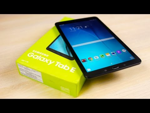 Galaxy Tab E - Unboxing & Hands On