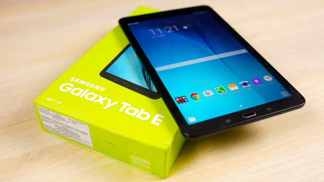 Galaxy Tab E Unboxing Hands On Youtube - Samsung Galaxy Tab E