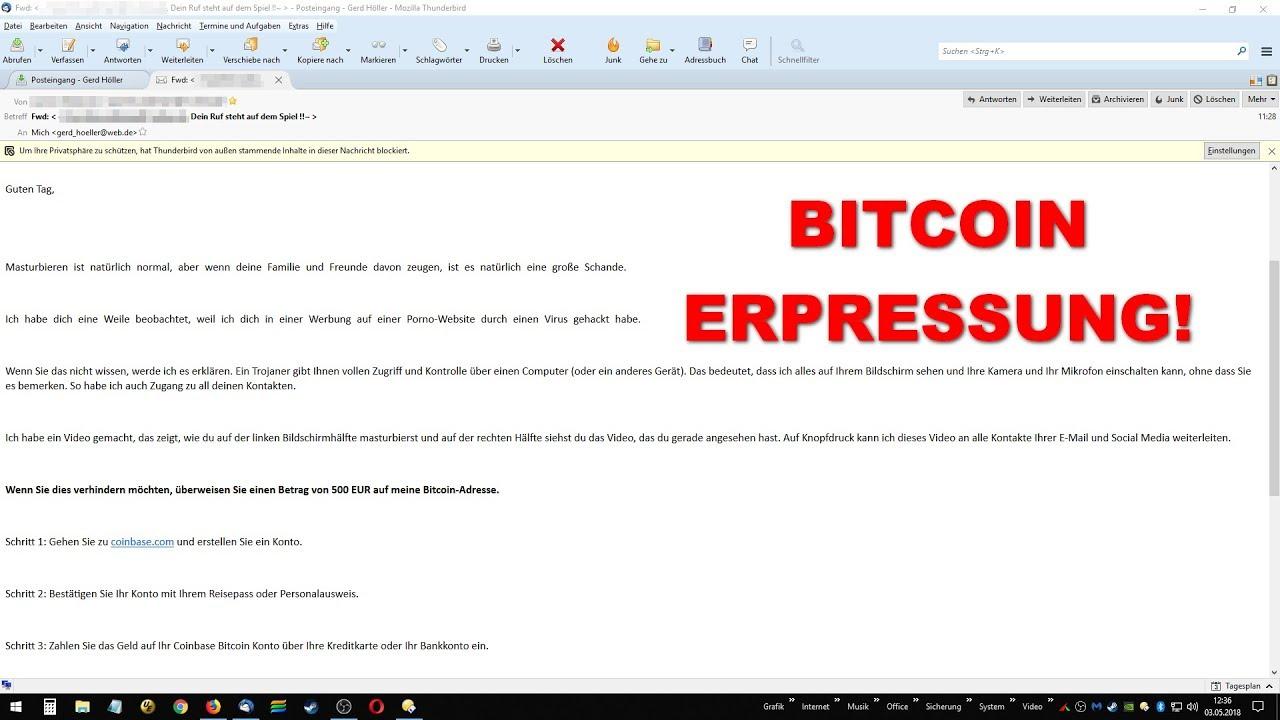 Bitcoin Erpressung