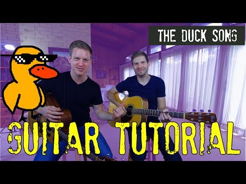 The Duck Song - GUITAR TUTORIAL!!