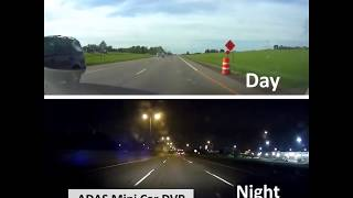 ADAS Mini 1080P HD Auto LDWS Video Recorder Car DVR Camera for Android Multimedia Player - BLACK