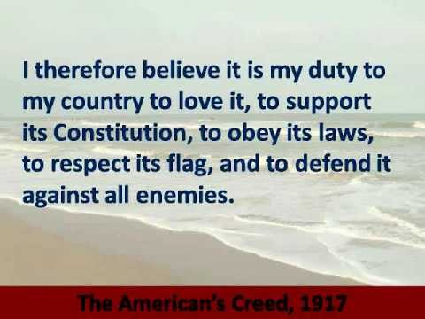 American's Creed - Hear and Read the Full Text
