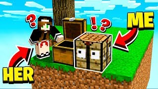 SHE had NO IDEA I was in HER Minecraft World! **HILARIOUS**