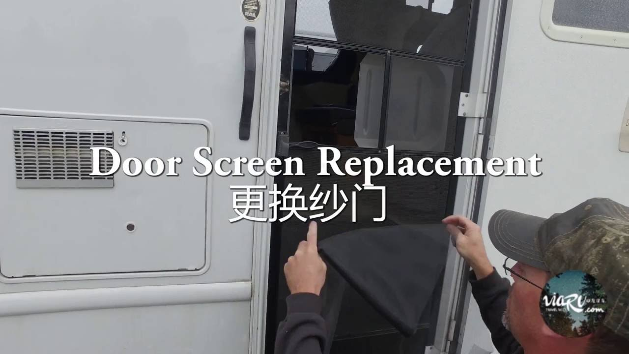 Rv Door Screen Replacement Viarv Parts Service Youtube