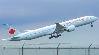 (4K) Plane Spotting at Toronto Pearson Int'l Airport