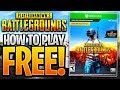 HOW TO GET PUBG FOR FREE! How To Play PUBG Free Download! (Pubg Xbox Free to Play Games 2018)