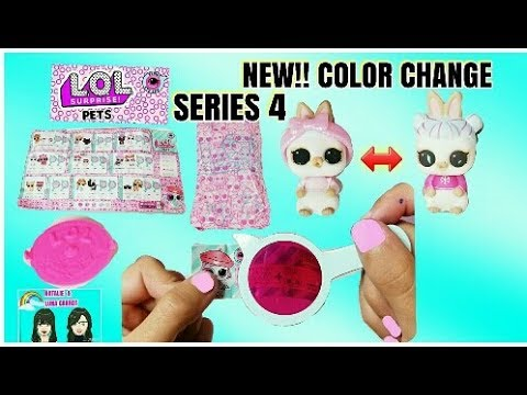 New Color Change Snow Bunny Lol Surprise Pets Decorder Eye Spy