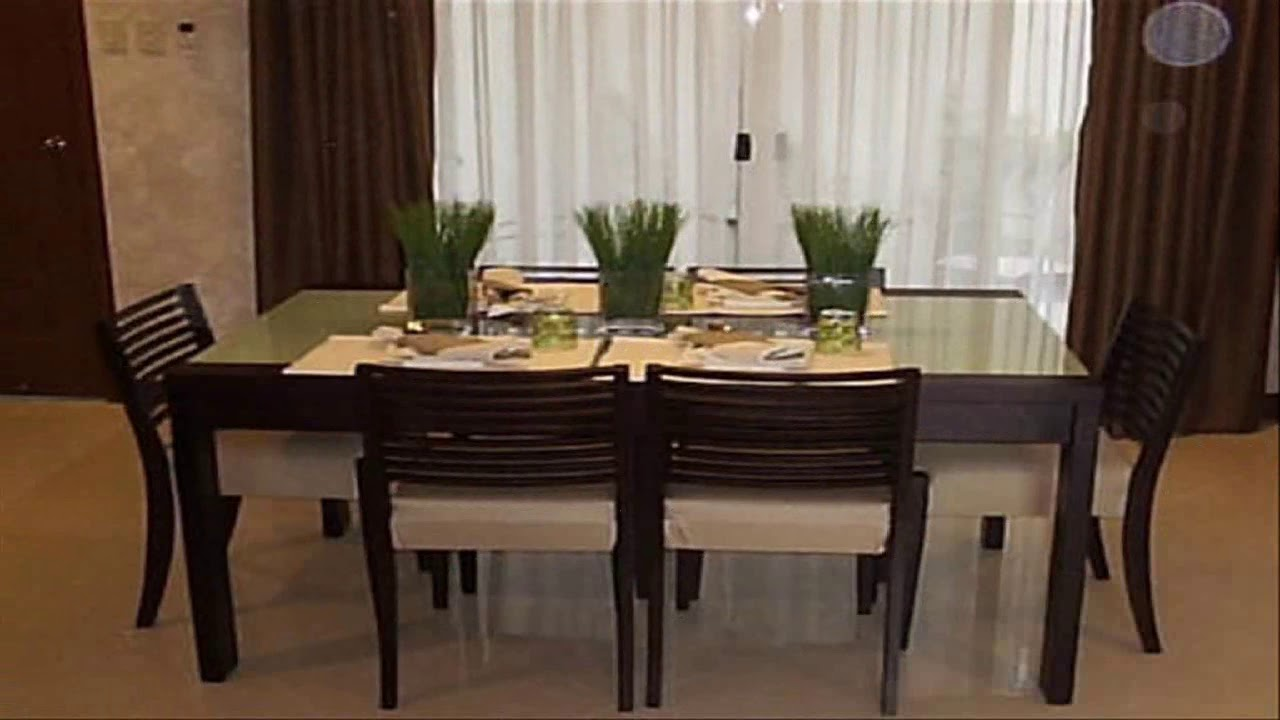 Simple dining table decor ideas youtube for Decorating a dining table ideas