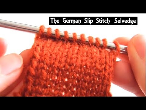 German Slip Stitch Selvedge How To Finishing Technique For Edges