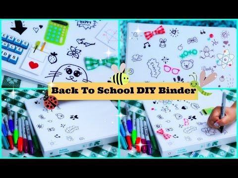 How To Make an Easy Back To School Binder / Folder - School Supplies DIY