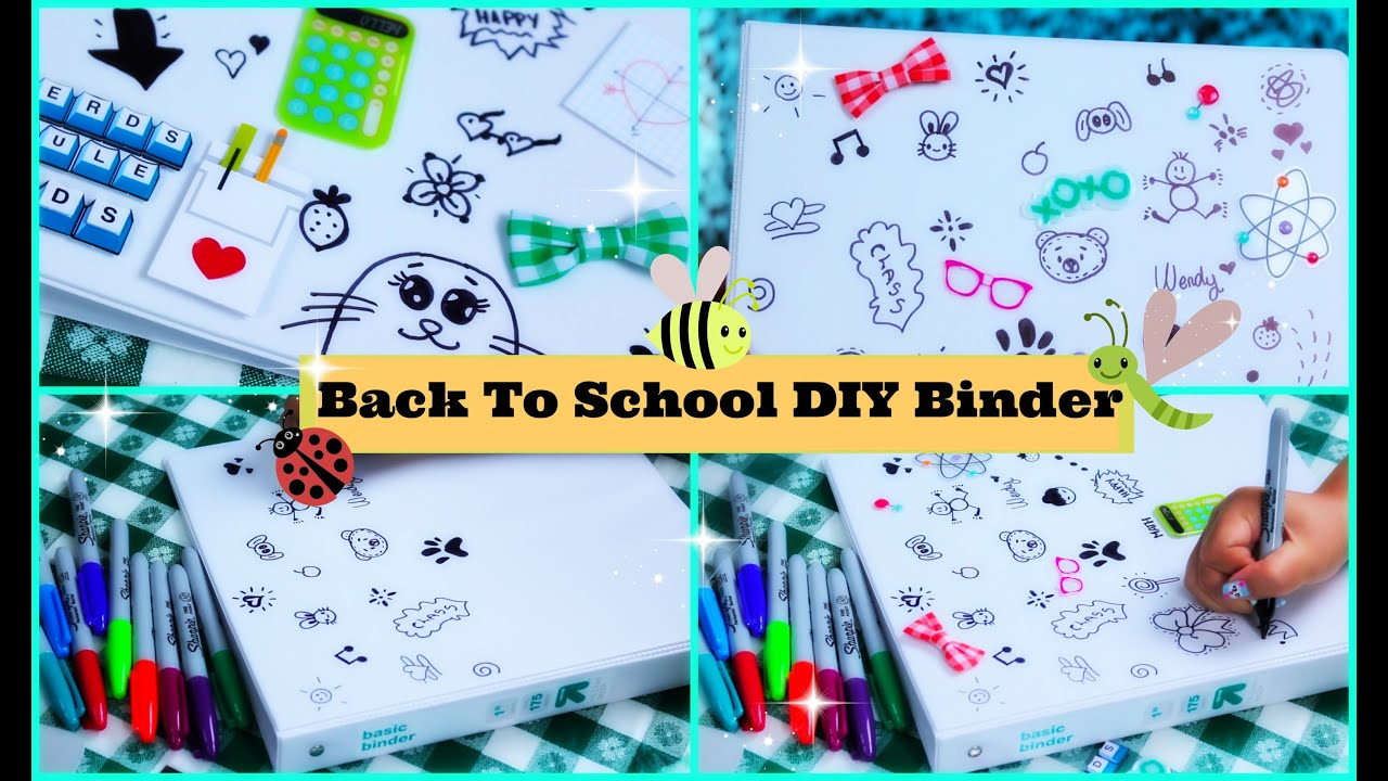 How to make an easy back to school binder folder for Back to school notebook decoration ideas