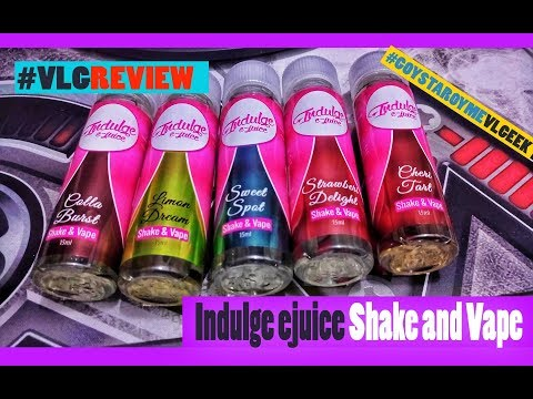 Indulge ejuice Shake and Vape Live Review - ΚΛΗΡΩΣΕΙΣ