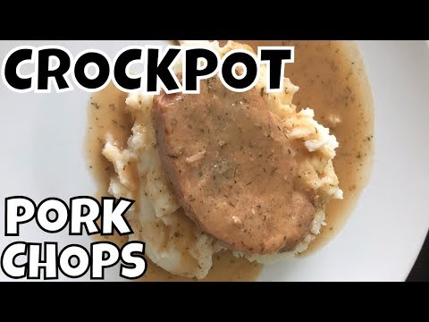 SLOW COOKER PORK CHOPS & GRAVY RECIPE | Foodie Friday