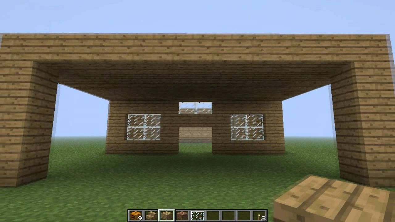 How to make a simple house in minecraft youtube for Creating a minimalist home
