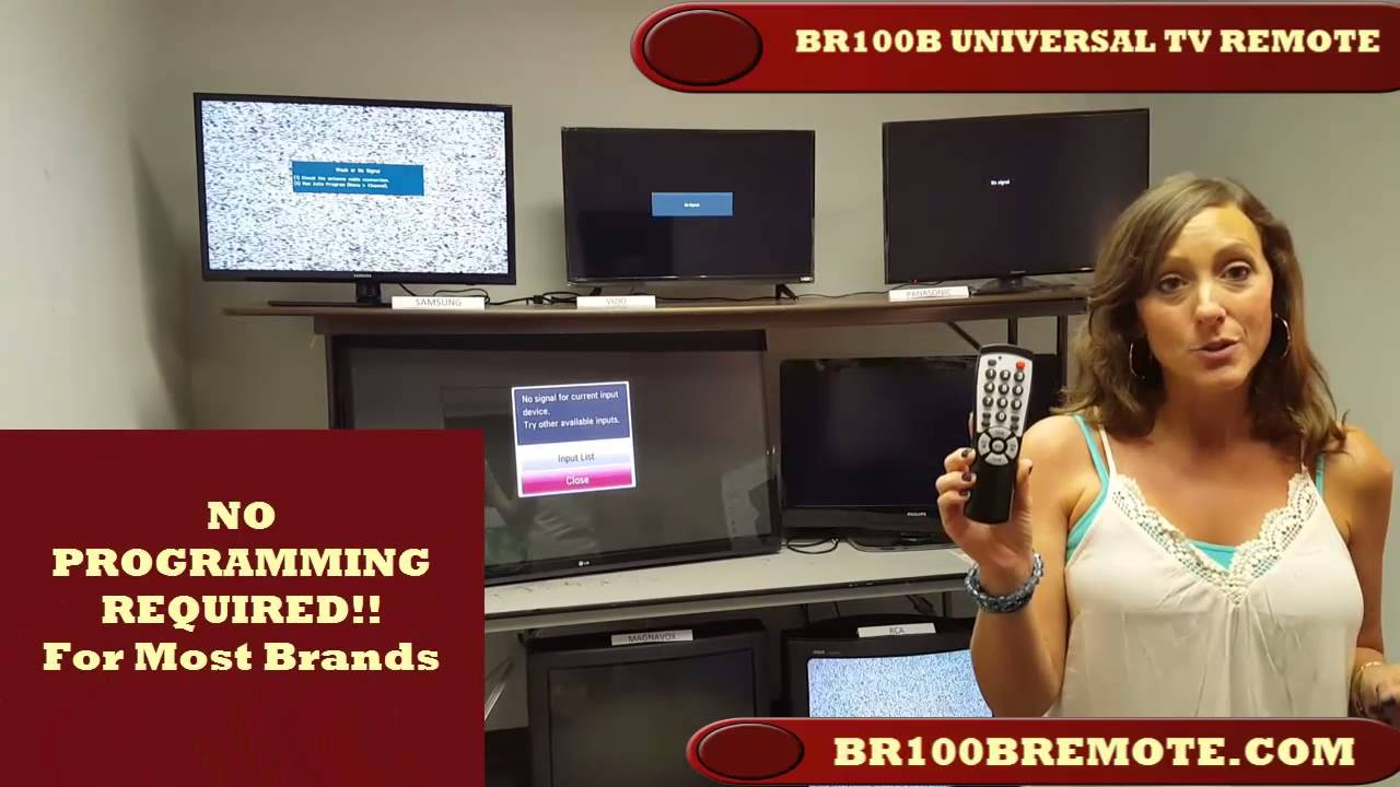 BR100B remote control for hotels, motels, healthcare and hospitals