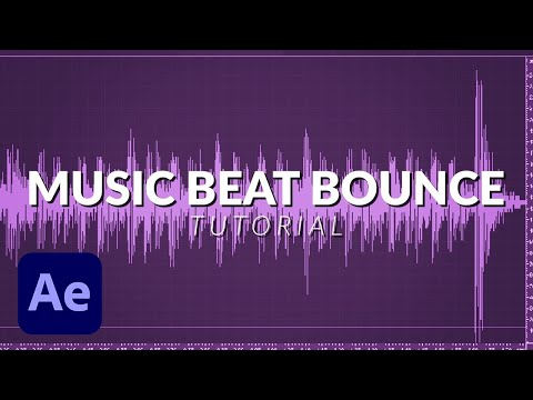 Bounce Scale Animation on The Music Beat Bass with After Effects No Plug ins (tutorial)