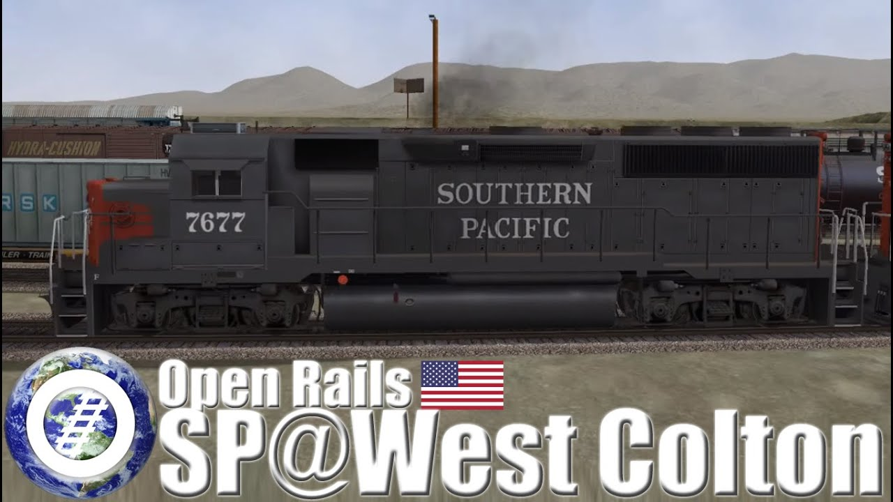 Open Rails (MSTS Successor) Southern Pacific over West Colton route