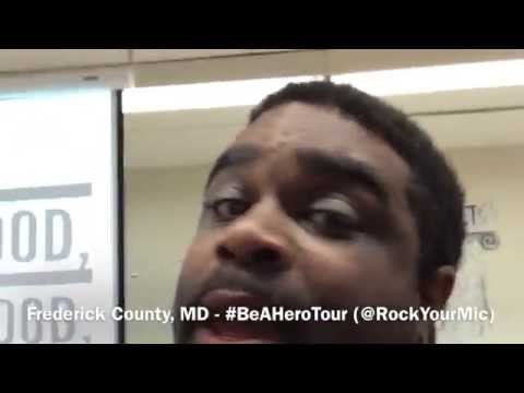Bullying Prevention Assembly #BeAHeroTour - Thurmont Middle School (@RockYourMic)