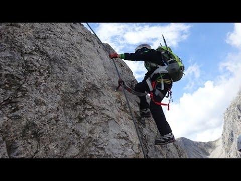 Klettersteig Wankspitze : Wankspitze m klettersteig summit climb on by