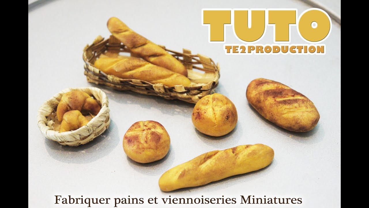 Tutorial fabriquer pains et viennoiseries miniatures p te - Comment faire une belle creche de noel ...