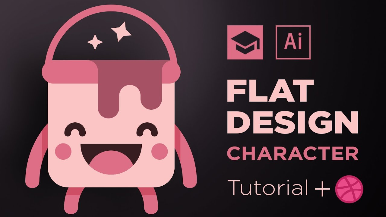 Flat Character Design Tutorial : Flat design tutorial how to a character