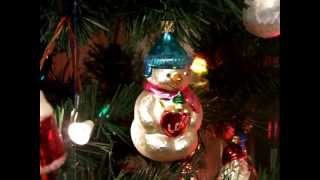 Christopher Radko and Polonaise glass Christmas ornaments- in the light