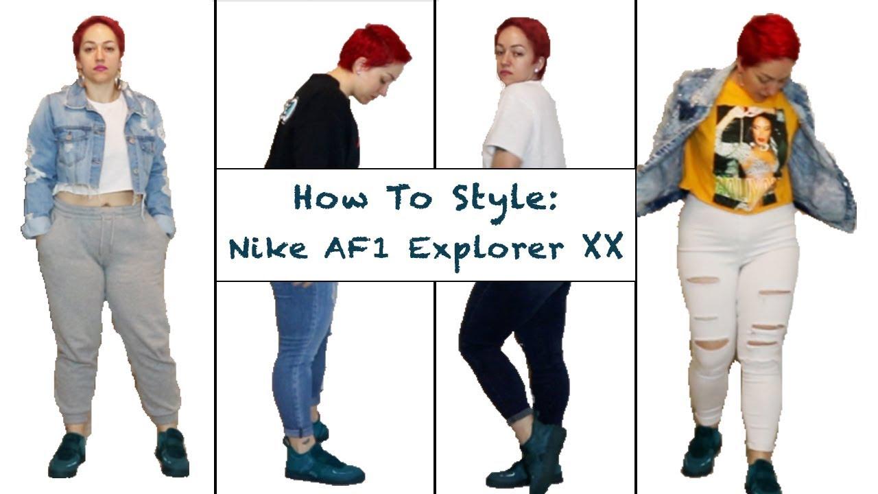 Nike AIR FORCE 1 EXPLORER XX WOMENS Dark GreenTeal