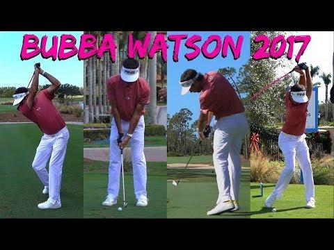 BUBBA WATSON 2017 QBE SHOOTOUT GOLF SWING FOOTAGE 1080 HD