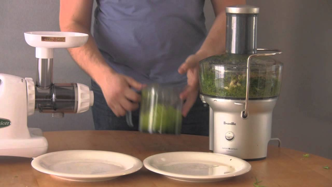 Omega Masticating Juicer Canadian Tire : Breville Juice Fountain vs. Omega J8004 Juice Extraction - YouTube