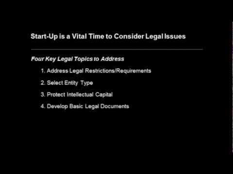 Legal Issues for Start-Ups Business (Audio)