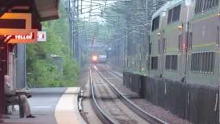 """Trespasser Strike"" Delayed/Retracked Amtrak & MBTA Trains in Sharon MA (5/14/12)"