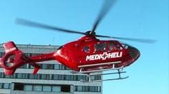Medi-Heli 01 lähtee Meilahden sairaalan helikopterikentältä 31.01.2009