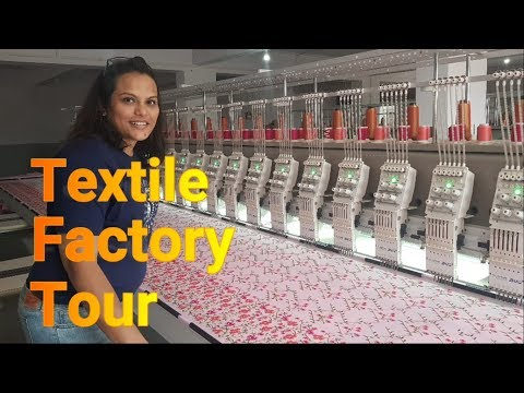 Textile Factory Tour || Surat || Full Understanding of Process || Cloth Weaving and Embroidery