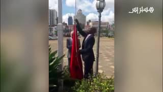 علم المغرب يعوض علم البوليساريو