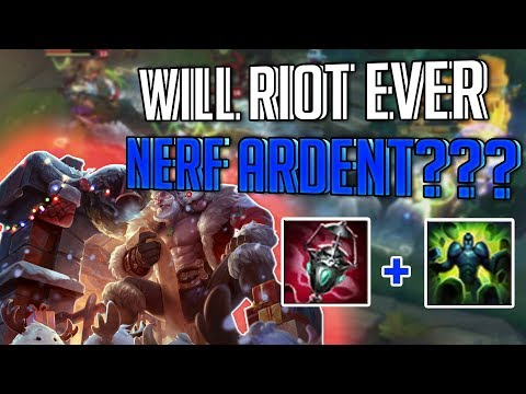 SANTA BRAUM BRINGING ARDENT PROCS TO ALL THE RIFT! WILL RIOT NERF ARDENT?! - League of Legends
