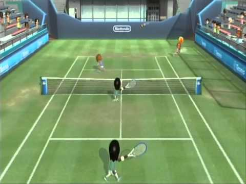 Wii Sports Club Tennis beating the Slam Sisters!