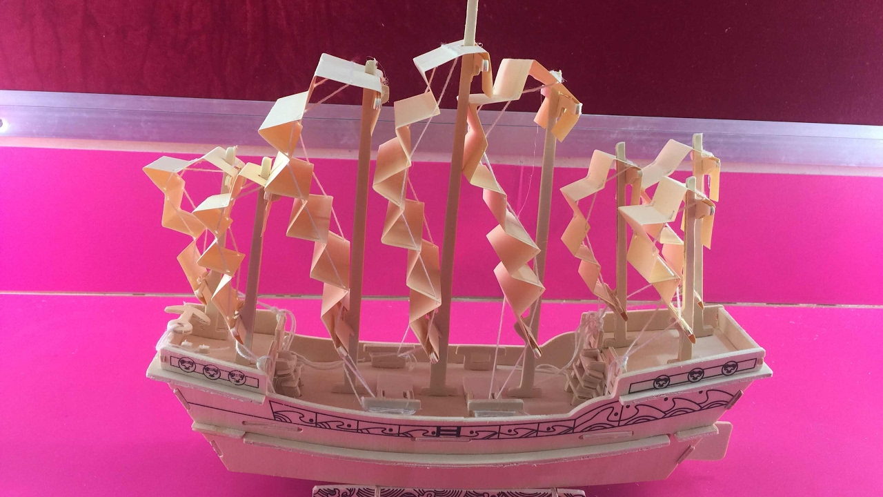 DIY Miniature Ancient Sailboat in Ming Dynasty ~ 3D wooden Puzzle