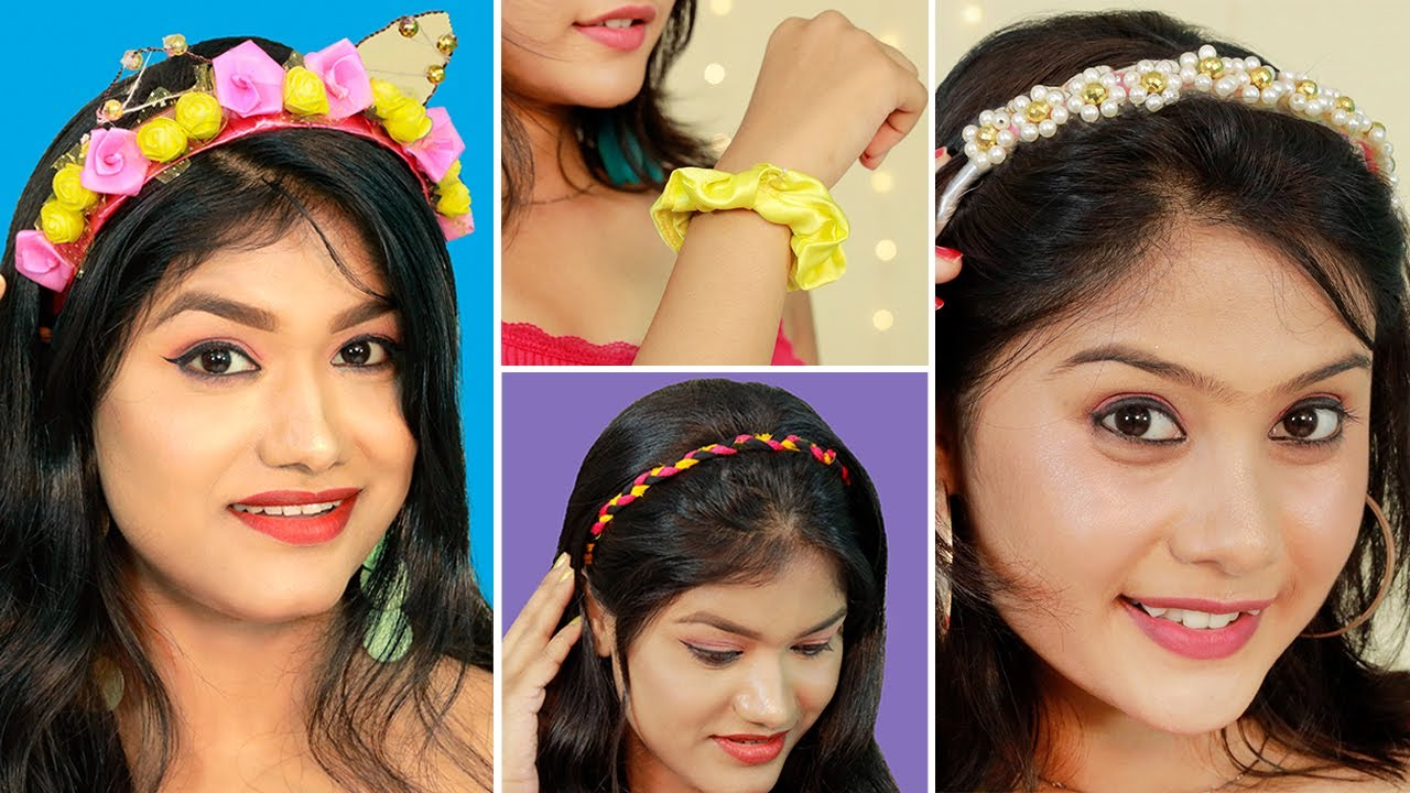 BEST & TRENDY DIY Easy Stylish Hairbands & Hair Accessories From Waste   Quick & Easy DIY Hairbands