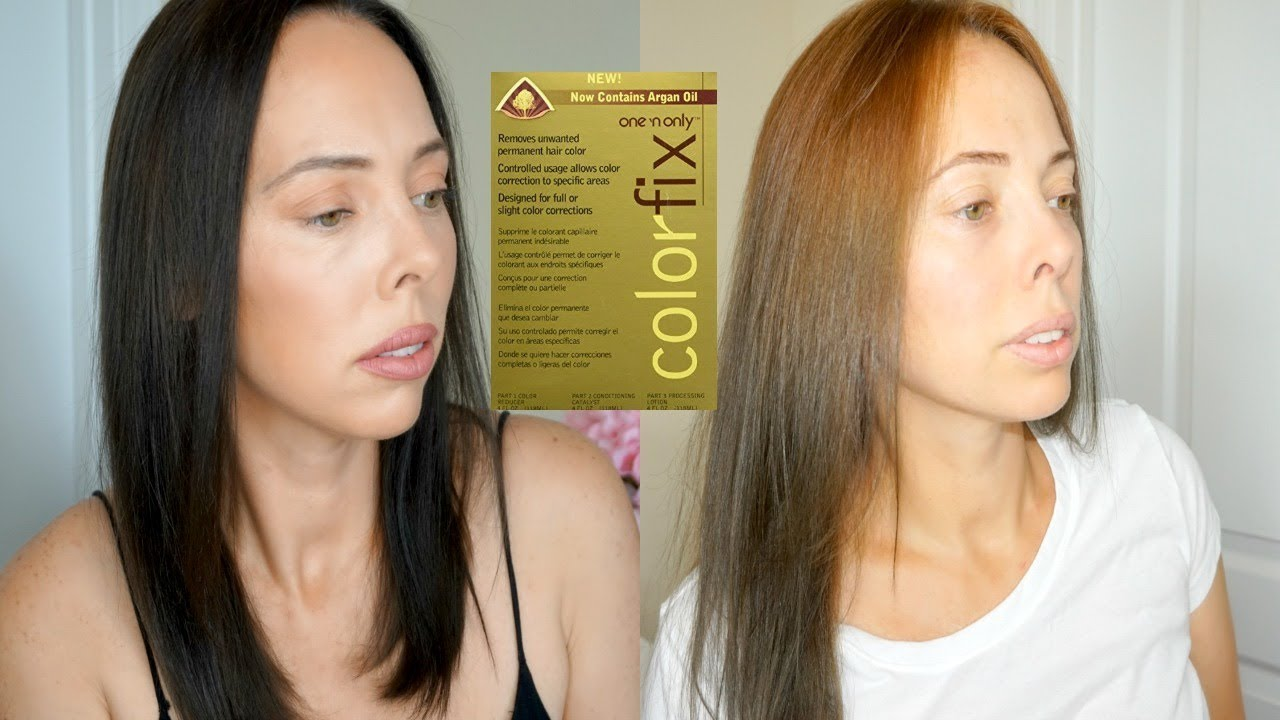 One N Only Colorfix Hair Color Remover How To Remove Black Hair Dye Before And After Youtube