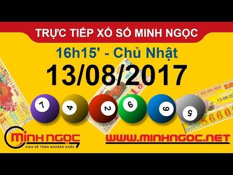 Trực tiếp xổ số MINH NGỌC CN Ngày 13-08-2017 - Kênh Youtube chính thức từ Minhngoc.net