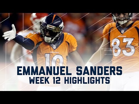 Emmanuel Sanders Racks Up 162 Yards & 1 TD! | Chiefs vs. Broncos | NFL Week 12 Player Highlights