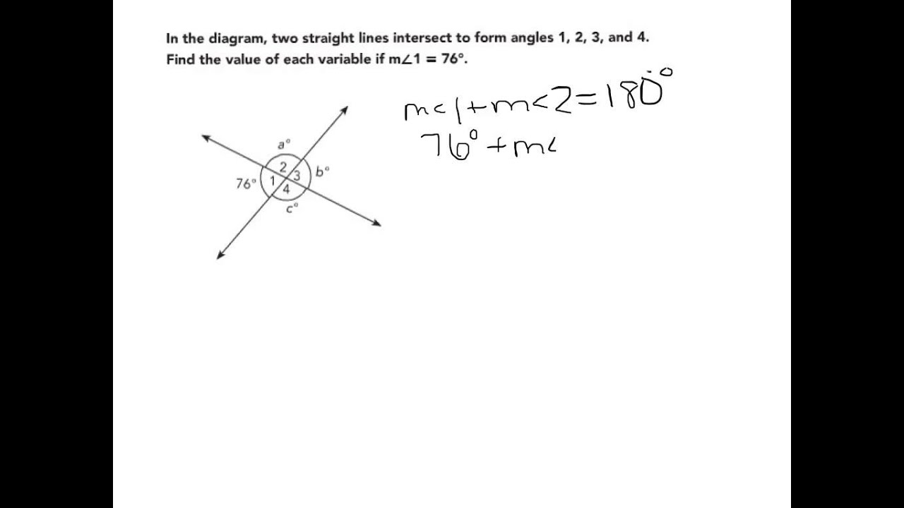 Apply Reasoning To Find Measures Of Angles Formed By Intersecting Lines