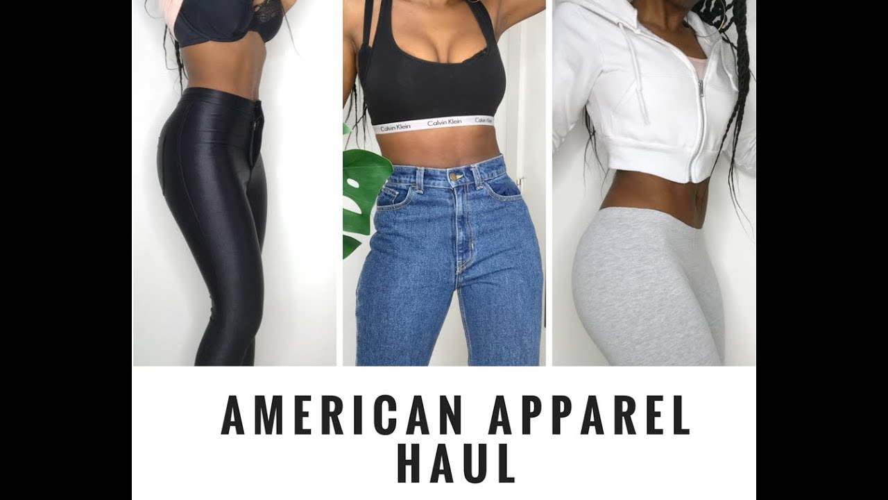 fe53fd7d09d AMERICAN APPAREL TRY ON HAUL 2018 - is it good anymore? - YouTube