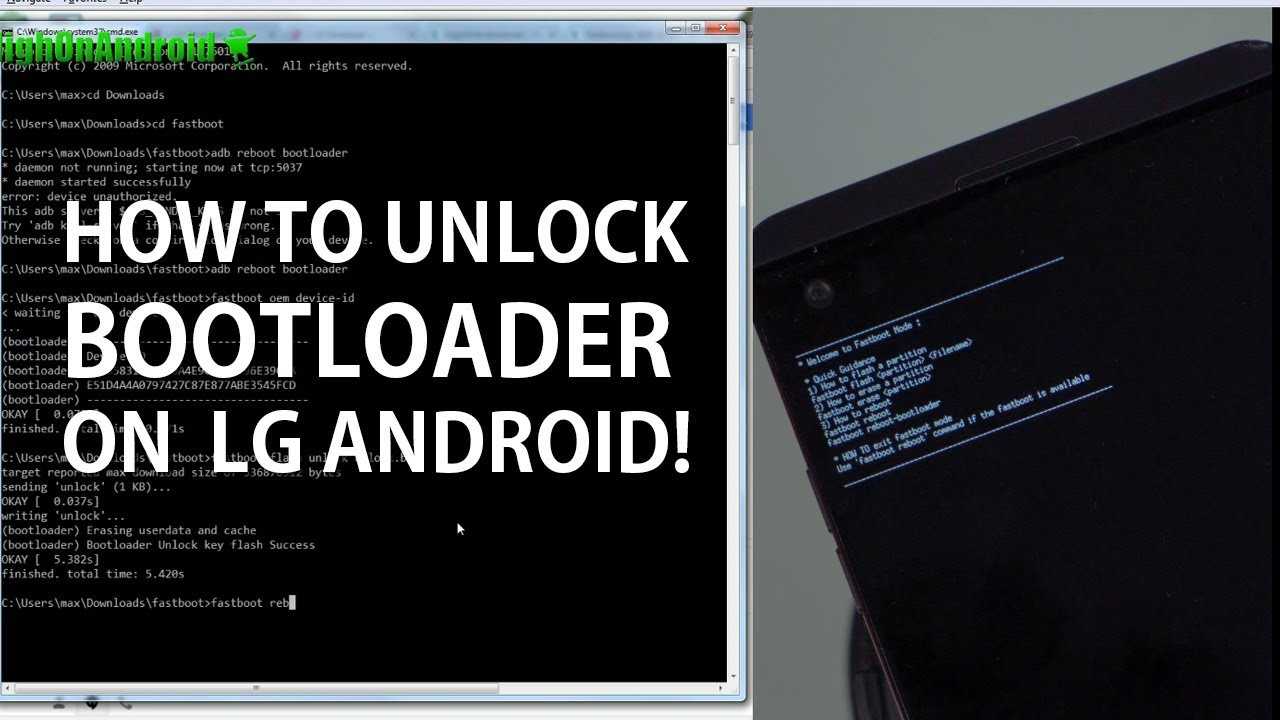 How to Unlock Bootloader on LG Android! [Android Root 101 #1b]